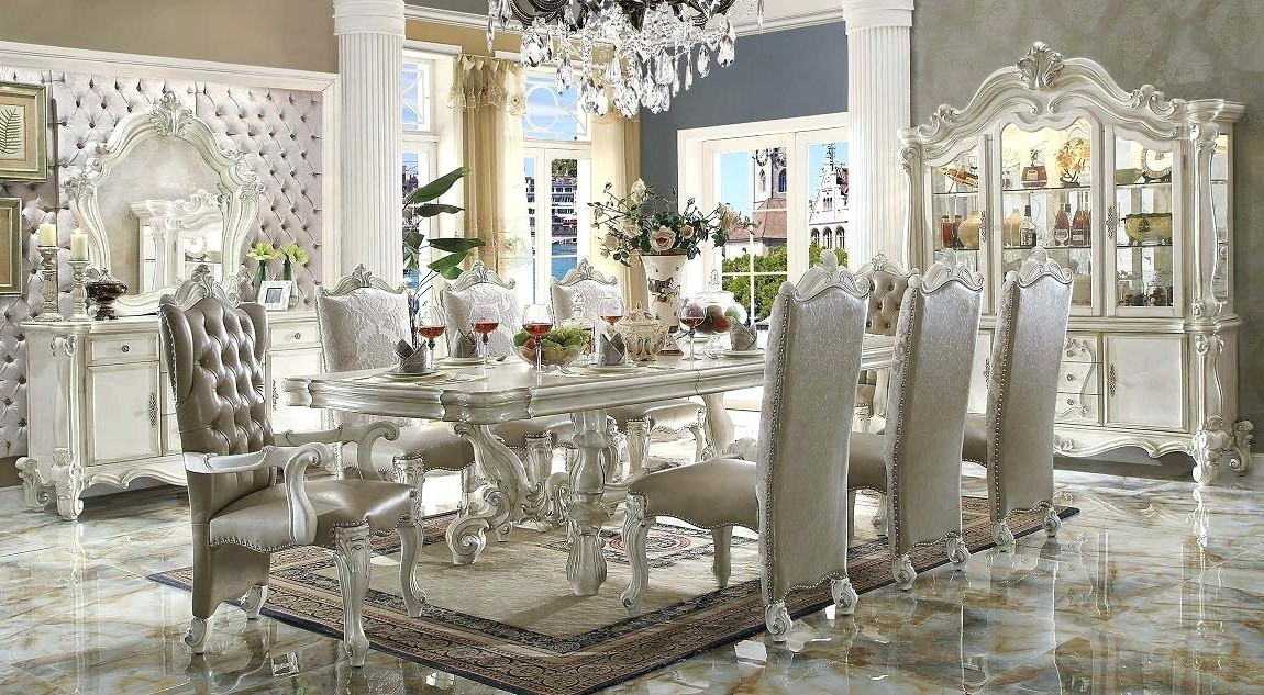 White Dining Tables Sets With Recent White Dining Table Set – Theturkishpassport (View 19 of 20)