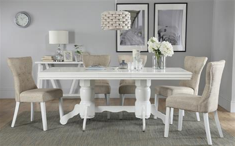 White Dining Tables With 6 Chairs With Regard To Recent Dining Table & 6 Chairs – 6 Seater Dining Tables & Chairs (View 2 of 20)