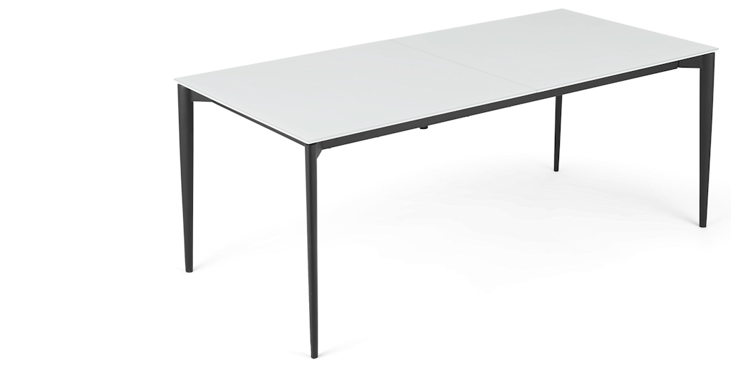 White Extending Dining Tables With Regard To Well Known Tandil Extending Dining Table, White Glass (View 20 of 20)