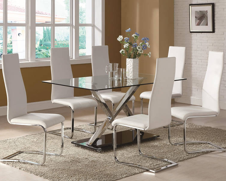 White Glass Dining Tables And Chairs Intended For Recent Marble & Glass Top Dining Tables: 10 Pros & Cons Of The Beauty (View 16 of 20)