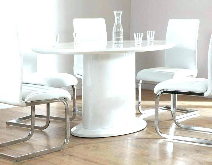 White Gloss Dining Set Extending White Gloss Dining Table Furniture Regarding 2018 White High Gloss Dining Tables (Gallery 20 of 20)