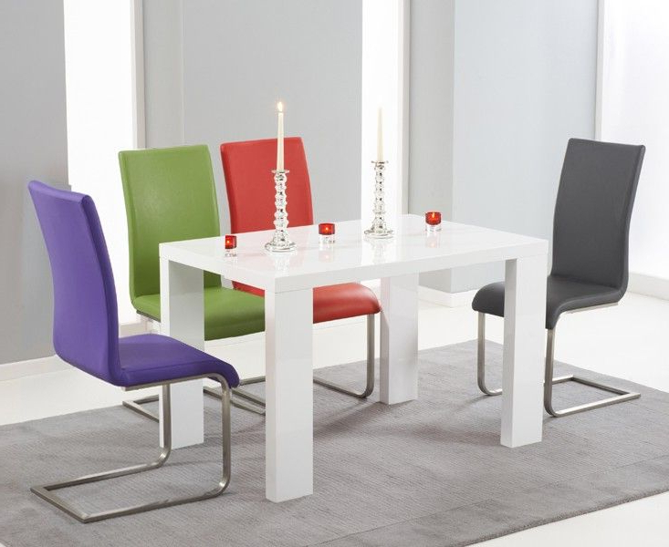 White Gloss Dining Table 140Cm Monza 120Cm White High Gloss Dining Throughout Best And Newest White Gloss Dining Tables 140Cm (View 16 of 20)