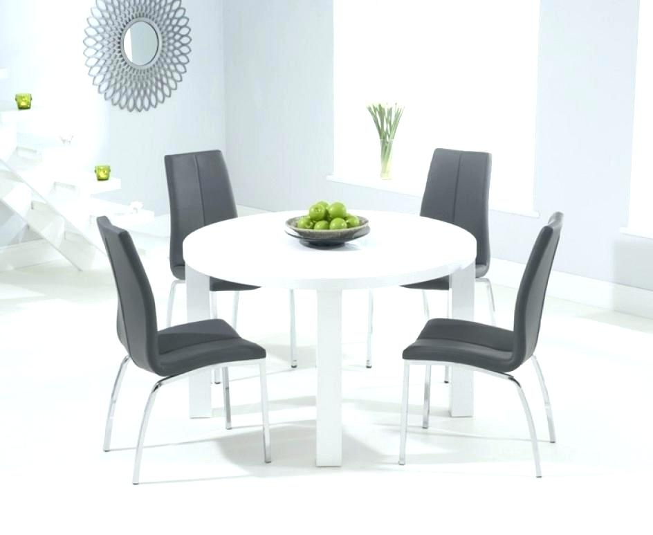 White Gloss Dining Table The Range High Round Extending Ikea Uk With Favorite Hi Gloss Dining Tables Sets (View 18 of 20)