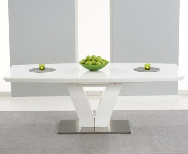 White Gloss Dining Tables 120cm Regarding Latest White Gloss Dining Table 140cm – Tvs Table (View 11 of 20)