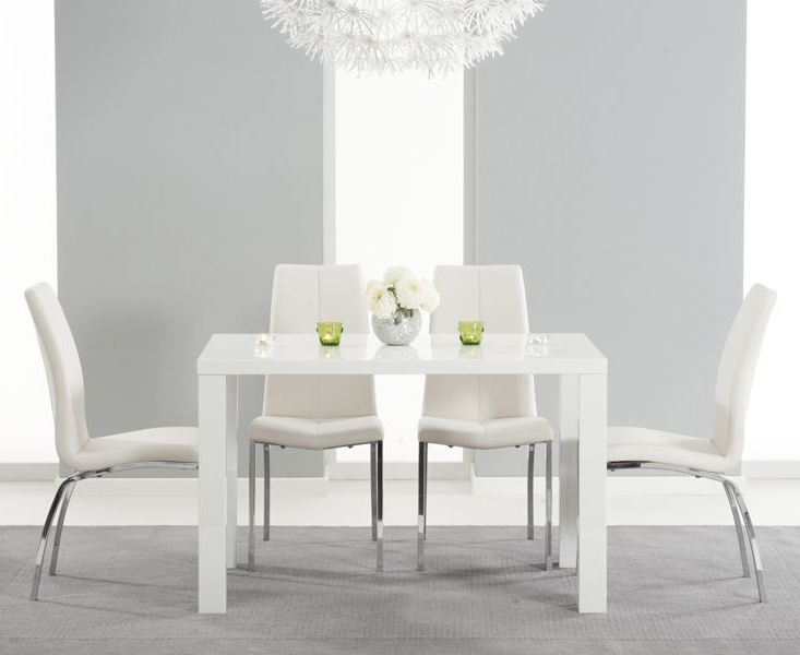 White Gloss Dining Tables 120Cm With Latest Buy The Atlanta 120Cm White High Gloss Dining Table With Cavello (View 19 of 20)