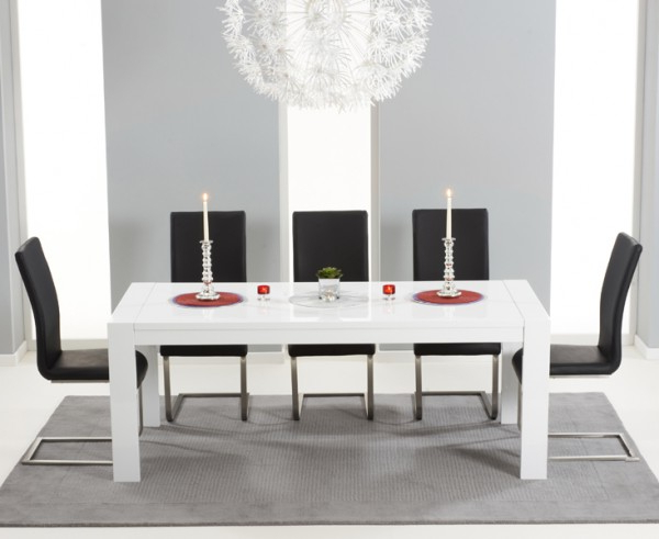White Gloss Dining Tables Within Latest Large White Gloss Extending Table 3 M 12 Seater (View 18 of 20)