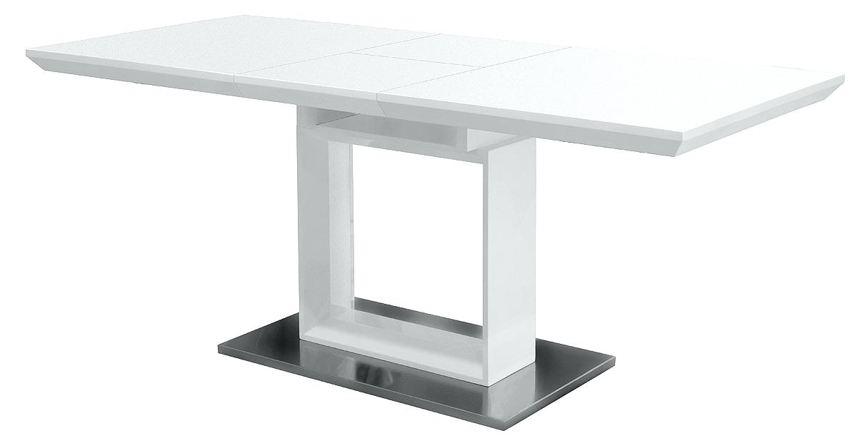 White Gloss Round Extending Dining Tables Pertaining To Trendy White High Gloss Dining Table White Gloss Dining Table White High (View 19 of 20)