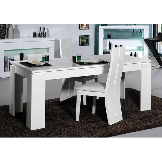 White High Gloss Dining Tables And Chairs For Most Recently Released Fiesta Extendable Dining Table In High Gloss White (View 19 of 20)