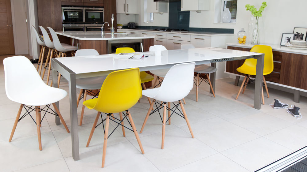White High Gloss Extending Dining Table (Gallery 9 of 20)