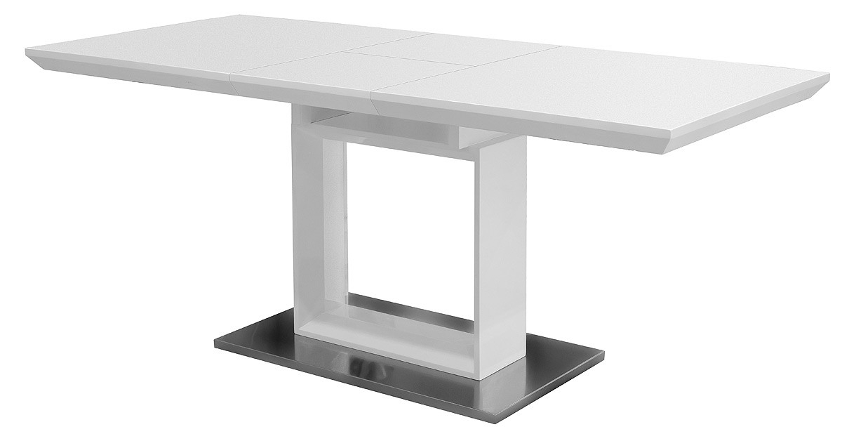 White High Gloss Extending Dining Table – Be Fabulous! Intended For Well Liked Black Gloss Extending Dining Tables (View 19 of 20)