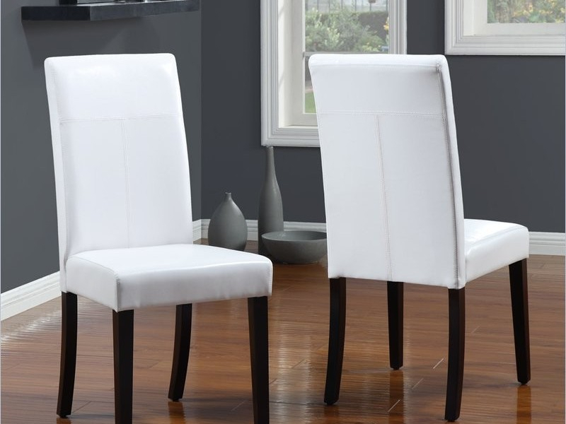 White Leather Dining Chairs For Widely Used White Leather Dining Chairs To Spice Up Your Dining Room – Home (View 18 of 20)