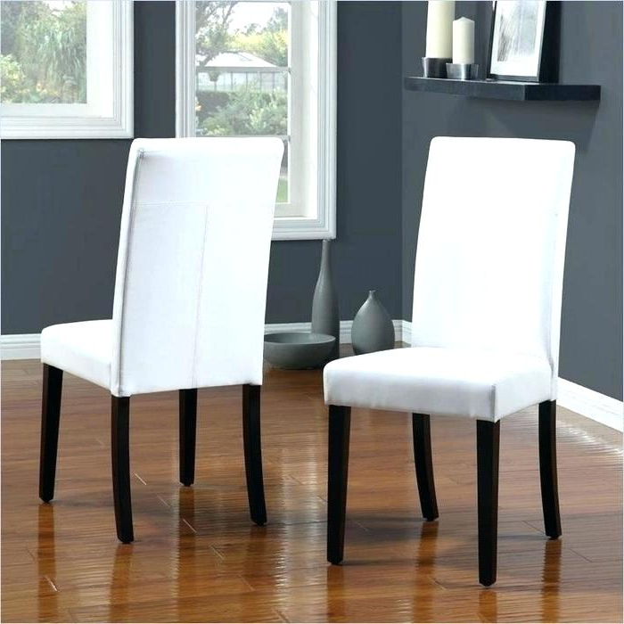White Leather Dining Room Chairs For Well Known White Leather Dining Room Chairs 6 Faux Leather Parsons Dining Room (View 16 of 20)