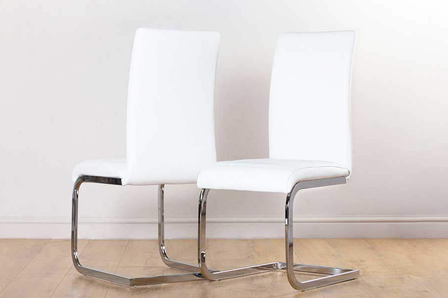 White Leather Dining Room Chairs With Best And Newest White Leather Dining Chairs (View 19 of 20)