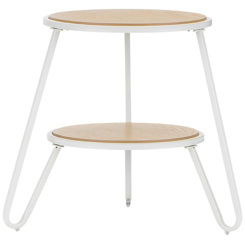 White Macy Round Side Table (View 14 of 20)