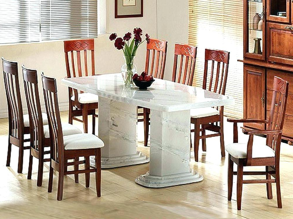 White Marble Dining Table – Energeticos (View 18 of 20)