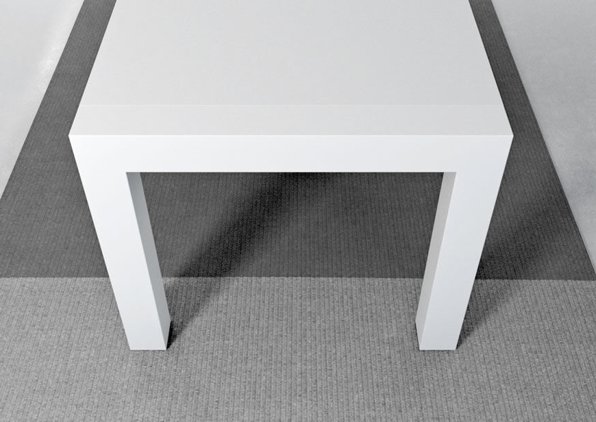 White Melamine Dining Tables Throughout Most Popular Contemporary Dining Table / Metal / Stained Wood / Melamine – Vuelta (View 18 of 20)