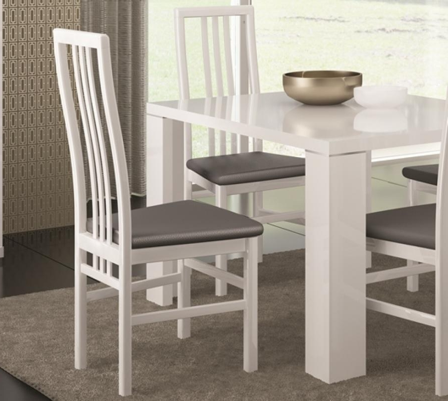 White Or Black High Gloss Modern Dining Chairs With Grey Faux With Widely Used Black High Gloss Dining Chairs (View 19 of 20)
