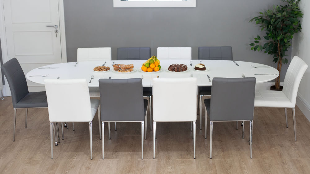 White Oval Extending Dining Table (View 3 of 20)