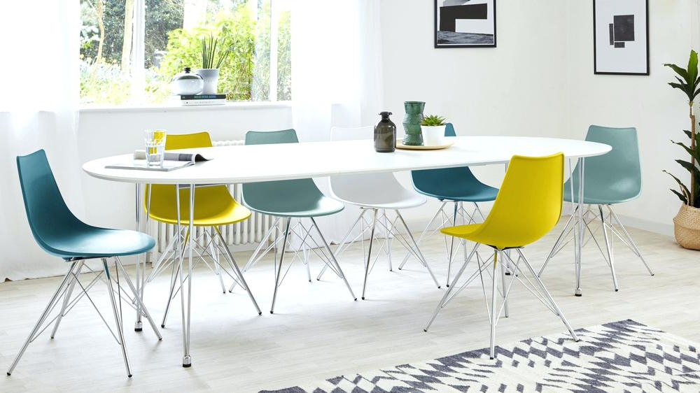 White Oval Extending Dining Table White High Gloss Extending For Most Recently Released Oval White High Gloss Dining Tables (View 20 of 20)