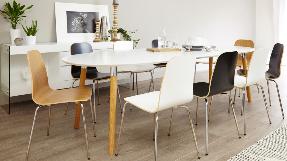 White Oval Extending Dining Tables With Regard To Famous Dining Tables (View 13 of 20)