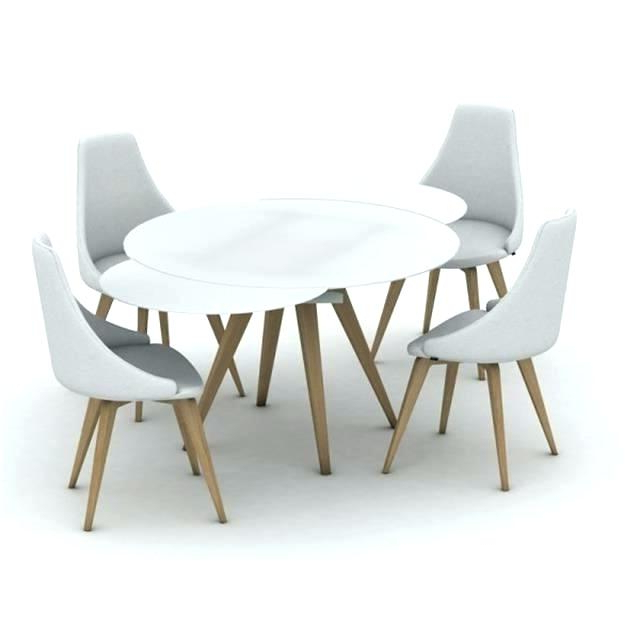 White Round Extending Dining Table – Emilytocco Regarding Latest Extending Round Dining Tables (View 13 of 20)