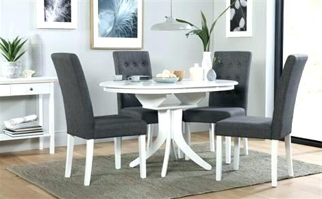 White Round Extending Dining Table – Emilytocco Regarding Well Liked Round Extending Dining Tables And Chairs (View 9 of 20)