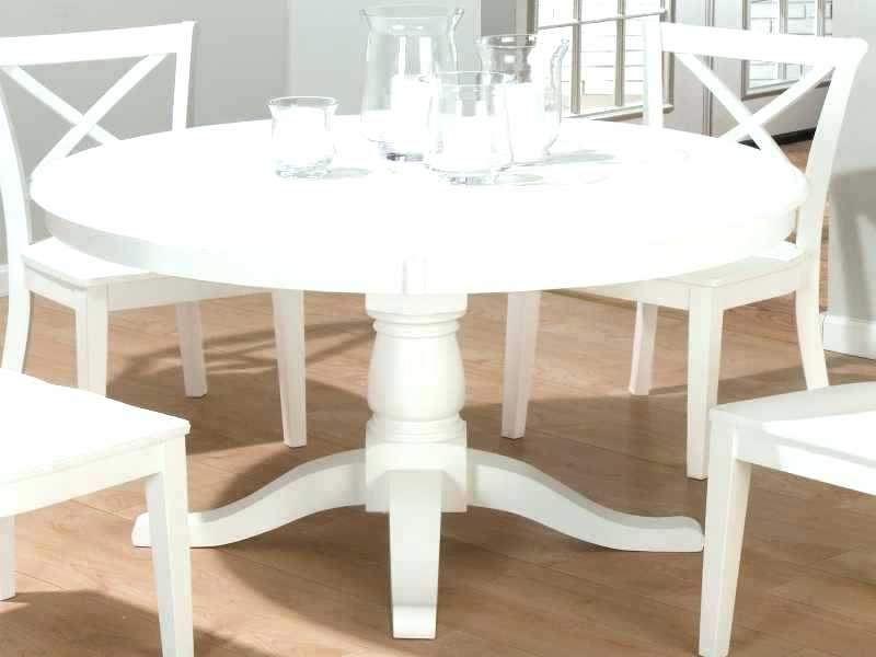 White Round Extending Dining Tables Intended For Newest White Round Dining Room Table White Round Extending Dining Table (View 15 of 20)