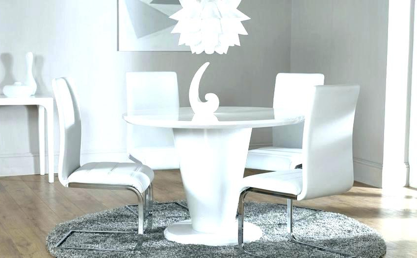 White Round Table Round White Dining Table 4 Table Design Round In Newest White Circular Dining Tables (View 6 of 20)