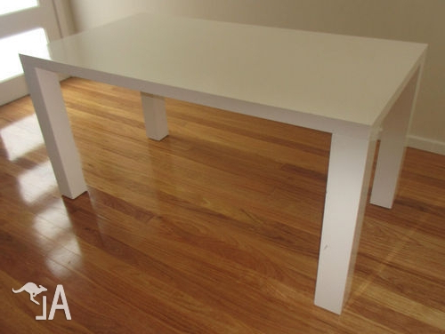 White Vogue Gloss Dining Table From Fantastic Furniture For Sale In Inside Trendy Vogue Dining Tables (View 9 of 20)