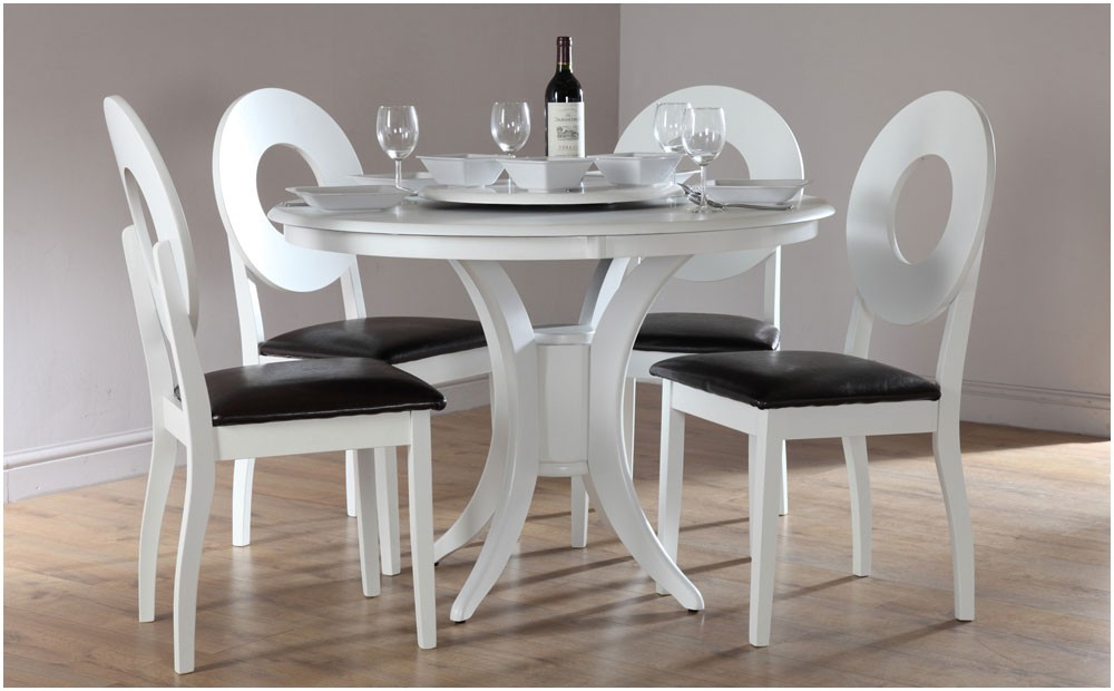 White Wood Kitchen Table Sets 52 White Dining Table Sets White And Pertaining To Latest White Dining Tables Sets (View 13 of 20)