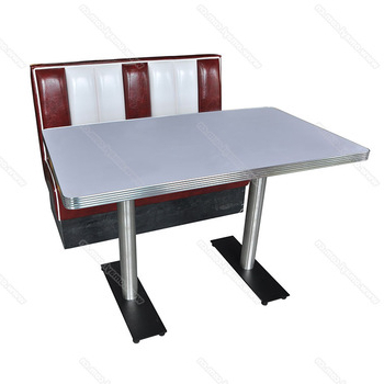 Wholesale American 1950S Retro Diner Table And Booth Furniture Set Within Well Known Retro Dining Tables (View 19 of 20)