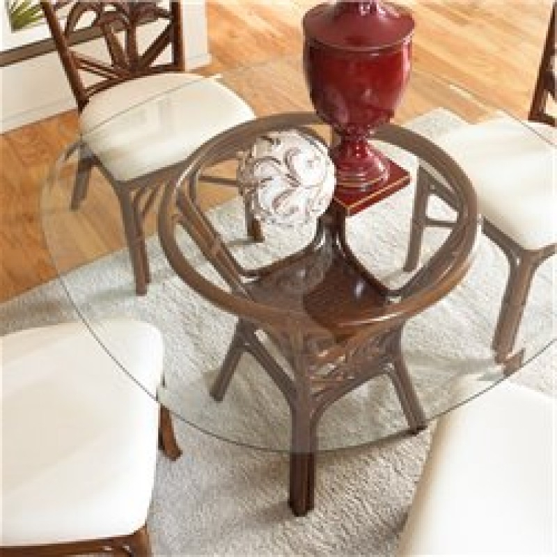 Wicker And Glass Dining Table – Glass Designs Inside Popular Wicker And Glass Dining Tables (View 3 of 20)