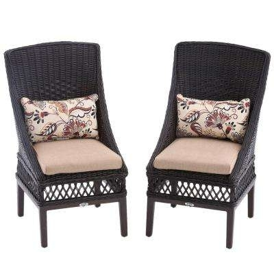 Wicker Patio Furniture – Hampton Bay – Armless – Patio Chairs Pertaining To Newest Armless Oatmeal Dining Chairs (View 18 of 20)