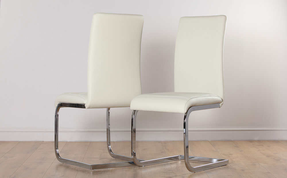 Widely Used 2 4 6 8 Perth Ivory Leather Dining Room Chairs Ebay Grey Dining Room In Ivory Leather Dining Chairs (View 6 of 20)