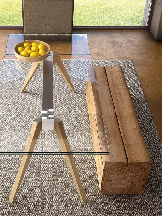 Widely Used 30 Ways To Incorporate A Glass Dining Table Into Your Interior Regarding Glass Dining Tables With Wooden Legs (View 4 of 20)