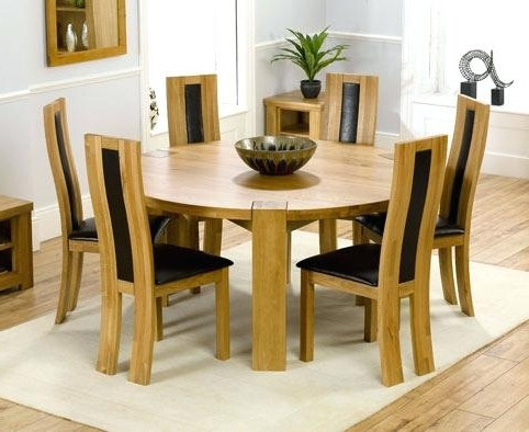 Widely Used 6 Seat Round Dining Tables For 6 Seat Dining Table Round Wooden 6 Sitter Dining Tables Table (View 3 of 20)