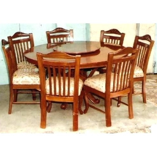 Widely Used 6 Seat Round Dining Tables For Decoration: 6 Seater Round Dining Table (View 20 of 20)