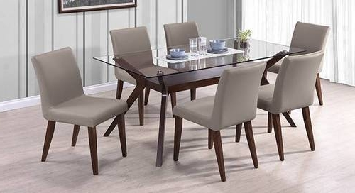 Featured Photo of 6 Seater Glass Dining Table Sets