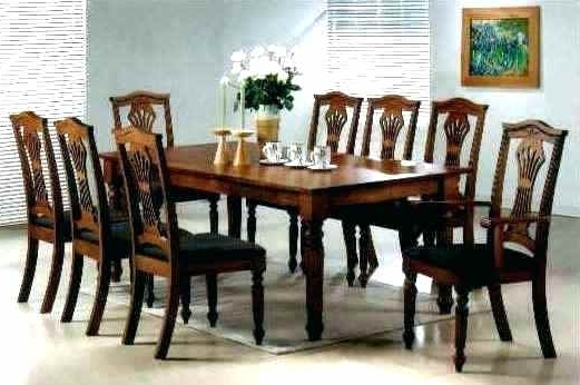 Widely Used 8 Seater Black Dining Tables With 8 Seater Dining Table 8 Seater Dining Room Sets Square 8 Seater (View 12 of 20)