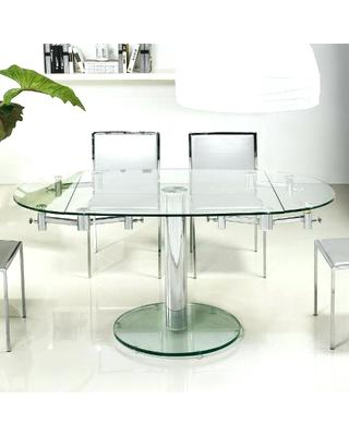 Widely Used Amazing Oval Glass Dining Tables Collection Glass Extending Dining Regarding Glass Extending Dining Tables (View 14 of 20)