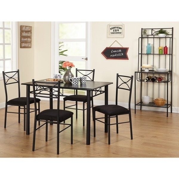 Widely Used Bale Rustic Grey Dining Tables Inside Shop Simple Living Valencia 6 Piece Metal Dining Set With Baker's (View 10 of 20)