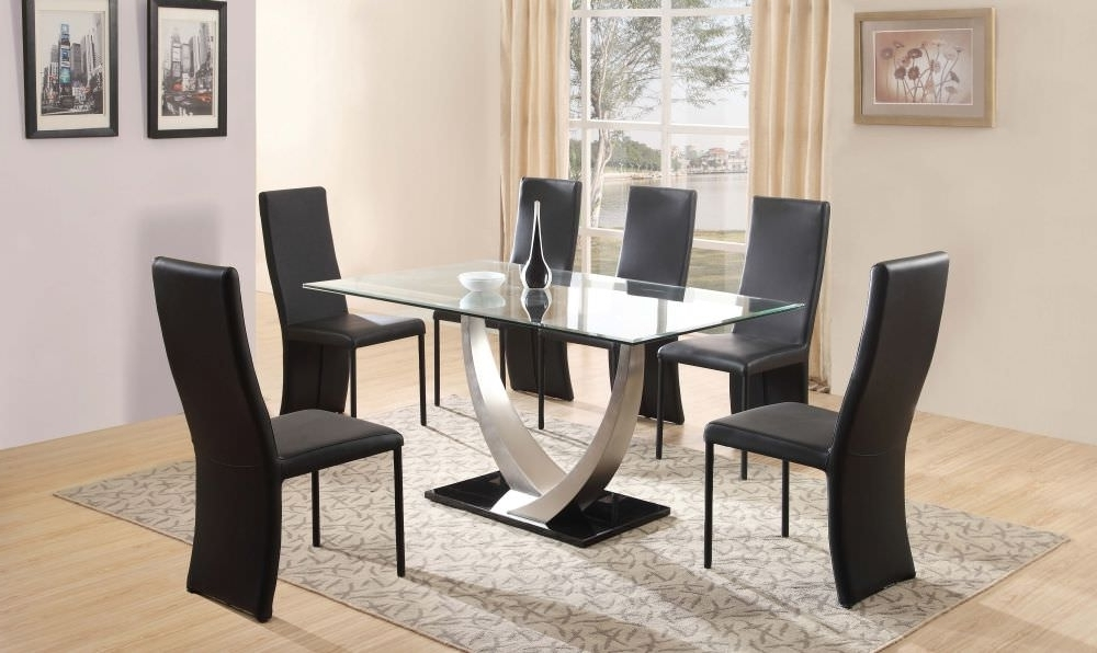 Widely Used Black Glass Dining Tables 6 Chairs Pertaining To 3 Steps To Pick The Ultimate Dining Table And 6 Chairs Set – Blogbeen (View 10 of 20)