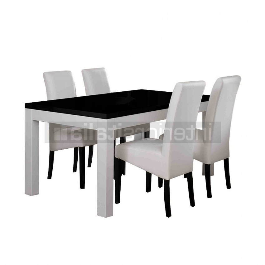 Widely Used Black High Gloss Dining Chairs In Modern Italian Dining Tables (View 10 of 20)