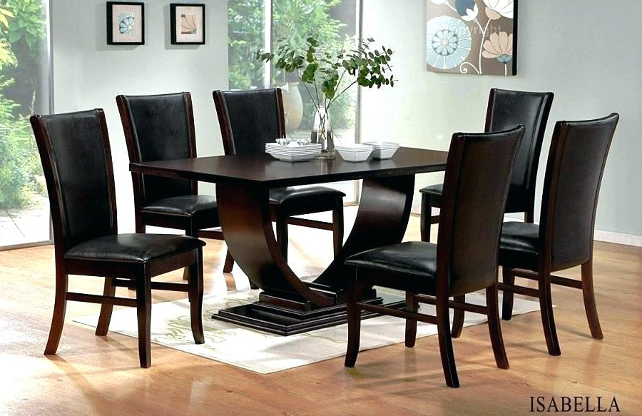 Widely Used Black Wood Dining Table Dining Room Sets Unique Dark Wood Curve Regarding Dark Wooden Dining Tables (View 19 of 20)