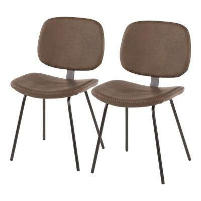 Widely Used Brown – Industrial – Metal – Dining Chairs – Kitchen & Dining Room With Regard To Plywood & Metal Brown Dining Chairs (View 20 of 20)