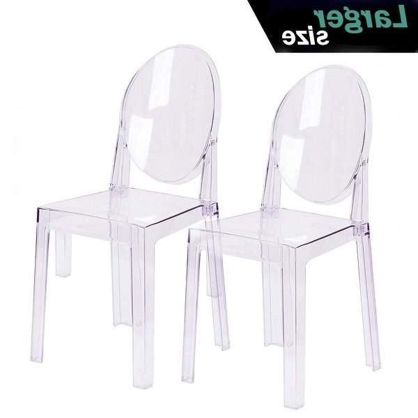 Widely Used Burton Metal Side Chairs With Wooden Seat In Shop 2xhome Set Of 2 Larger Clear Chair Plastic Chair Designer (View 2 of 20)