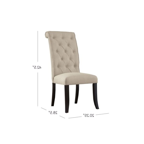 Widely Used Burton Metal Side Chairs With Wooden Seat Inside Signature Designashley Carville Tufted Side Chair & Reviews (View 19 of 20)