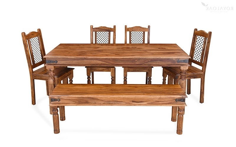 Widely Used Buy Royaloak Haveli 6 Seater Dining Table In Sheesham Woodonline Pertaining To 6 Seat Dining Tables And Chairs (View 12 of 20)