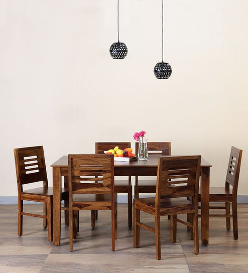 Widely Used Buy Valencia Six Seater Dining Set In Provincial Teak Finish With Regard To Valencia 72 Inch 6 Piece Dining Sets (View 2 of 20)