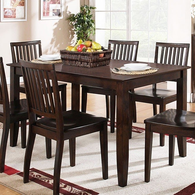 Widely Used Candice Ii Slat Back Side Chairs Inside Candice Rectangular Dining Room Set (dark Espresso) Steve Silver (View 13 of 20)
